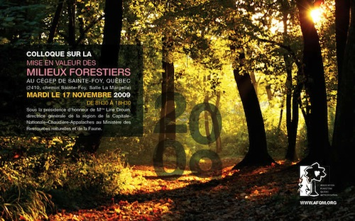 Mise en valeur des milieux forestiers